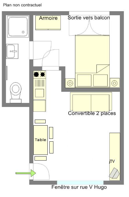 Plan appartement Balaruc N2