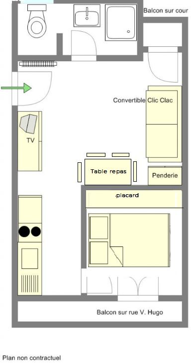 plan appartement meublé n4